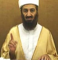 A frame from Osama bin Laden&#8217;s 2007 video.